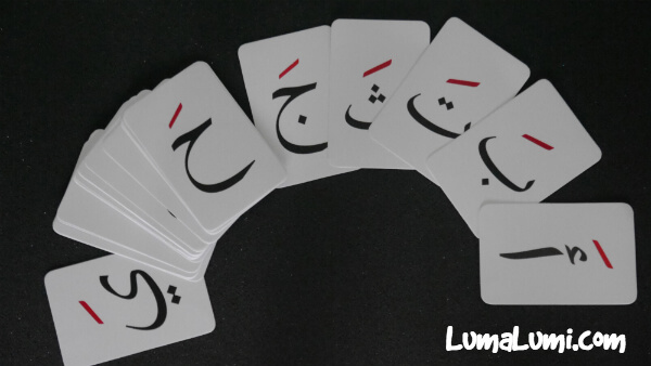 flash card huruf hijaiyah fathah