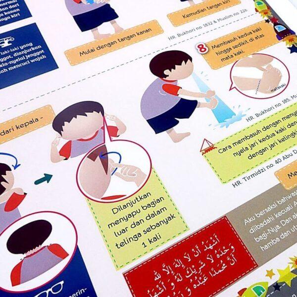 poster belajar wudhu anak