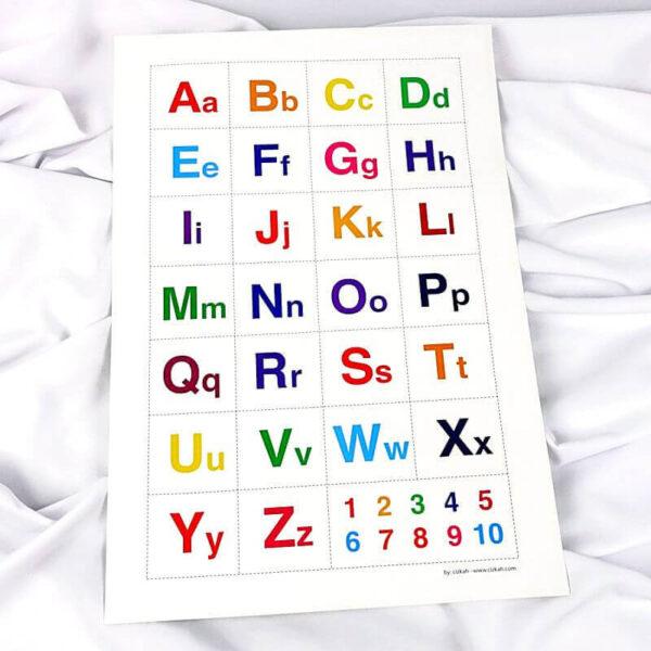 belajar huruf abjad kapital