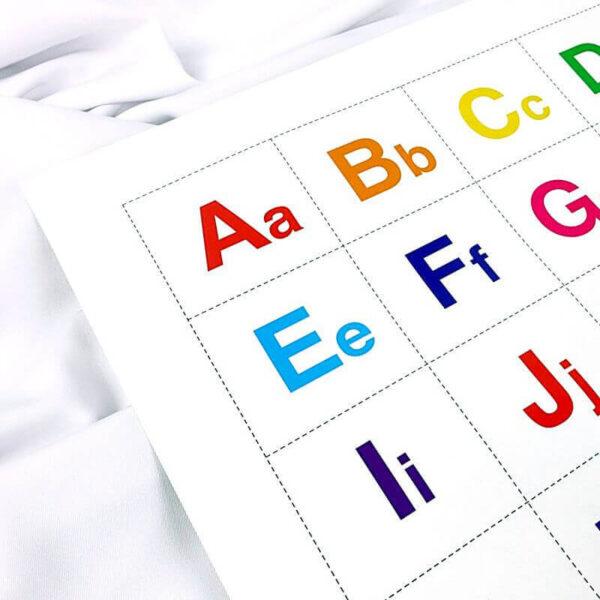 belajar mengenal huruf abjad kapital