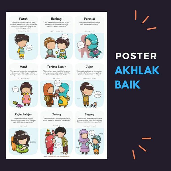 Poster Akhlak Anak Sholeh