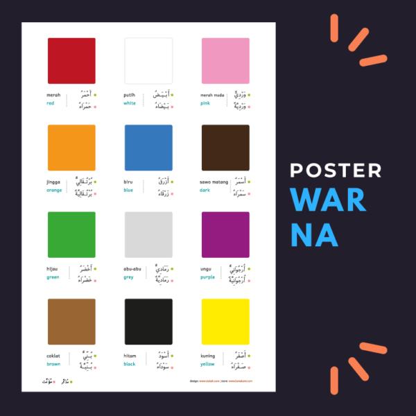 poster mengenal warna untuk anak-anak