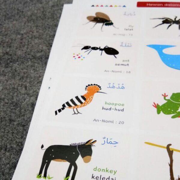 poster mengenal binatang untuk anak balita