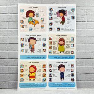 poster adab islami untuk anak-anak
