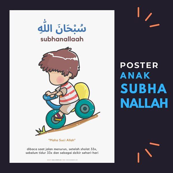 Poster anak belajar ucapan Shubhanallah