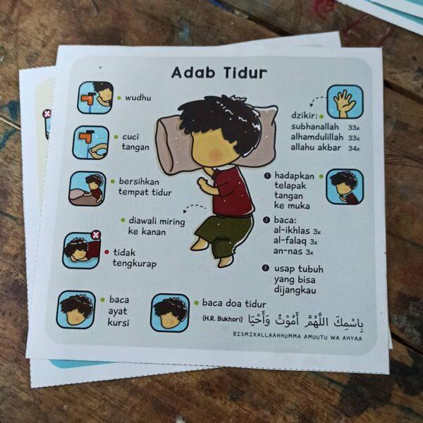 stiker adab balita dan anak muslim